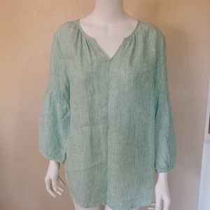 Talbots linen blouse